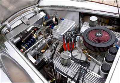 Aluminum Cobra Engine Compartment