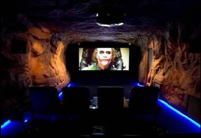Bat Cave Man Cave Movie Theater