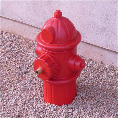 Finished Dog Fireplug