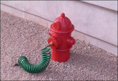 Dog Fireplug With Hose
