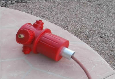 Dog Fireplug With Pipe