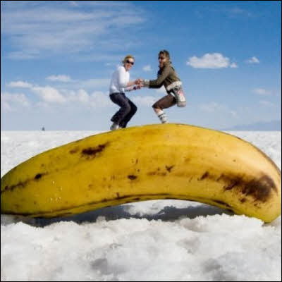 Forced Perspective Photography - Banana
