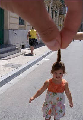 Forced Perspective Photography - Girl's Hair