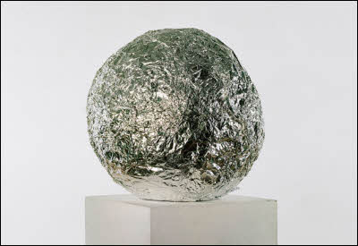 Giant Tinfoil Ball Art