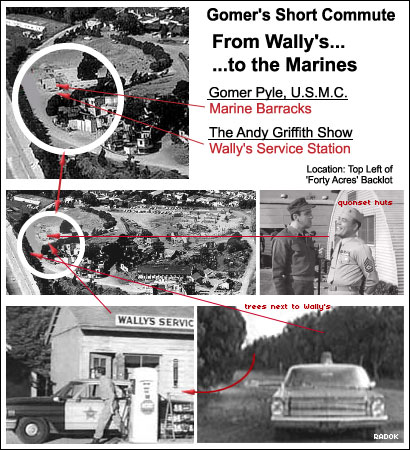 Wally's Service Station and Gomer Pyle USMC Marine Base