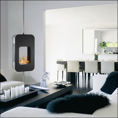 20 Best Designs for the Hanging Fireplace - Home Interior Help