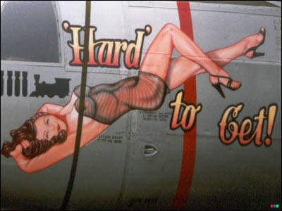 Aircraft Nose Art - Hard To Get