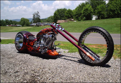 Hubless monster chopper rolls without spokes