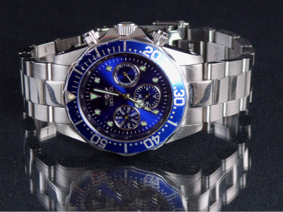 Invicta Watch on Glass