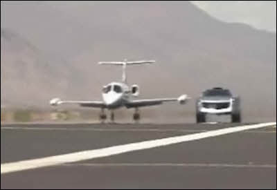 Jay Leno's Jet Car Outruns A Private Jet