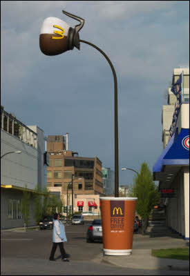 Creative McDonald's Advertisements - Coffee Pot Pole