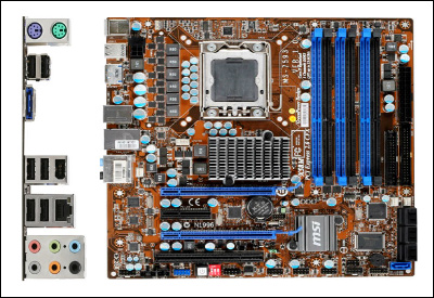 MSI X58M Motherboard With Available Ports