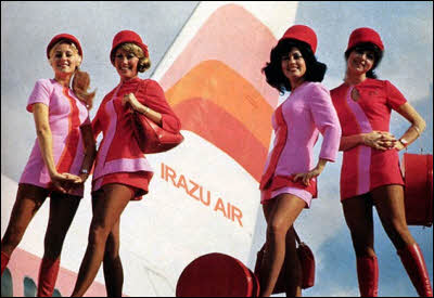 Vintage Flight Attendant Photos. Irazu Air Flight Attendants