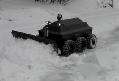 Snow Plow Robot