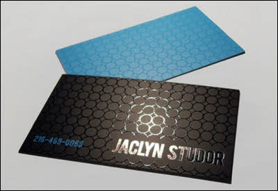 Business Cards with Spot UV varnish