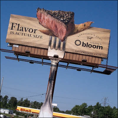 Billboard Smells Like A Steak