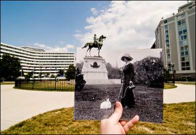 Superimposed Photo: Thomas Circle, Washington, DC