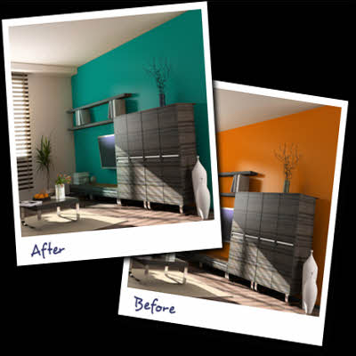 Kayat kandi great living room paint colors for Interactive room painting